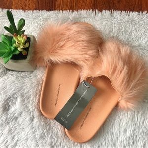 NWT French connection peach slides